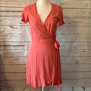 Forever 21 wrap around coral dress